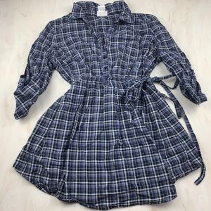 Oh Baby plaid maternity shirt by motherhood large